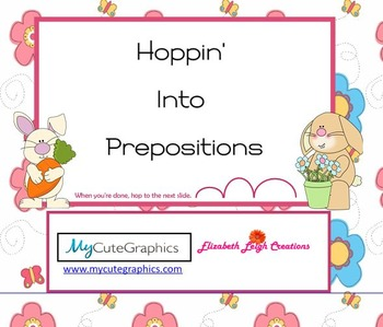 Hoppin' Into Prepositions