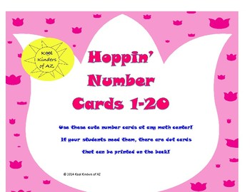 Hoppin' Number Cards 1-20 *Spring Freebie*