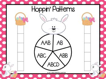 Hoppin' Patterns:  NO PREP Easter Themed Race to the Top Game