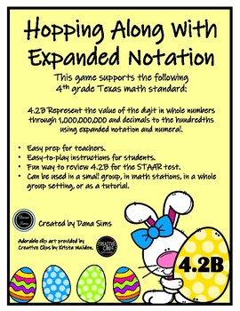 Hopping Along with Expanded Notation (TEKS 4.2B) STAAR Practice