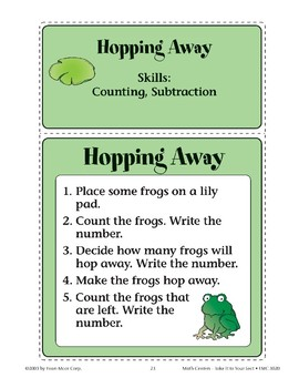 Hopping Away (Counting and Subtraction)