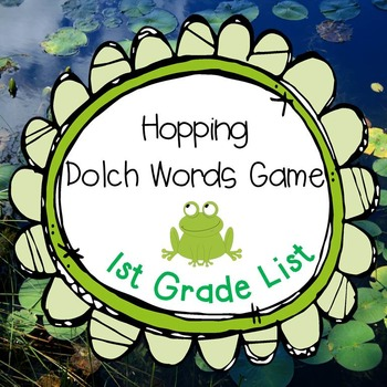 Hopping Dolch Words Game 1st Grade Set