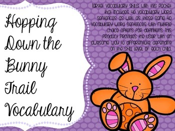 Hopping Down the Bunny Trail Vocabulary