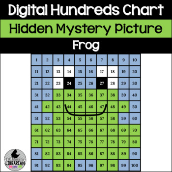 Hopping Fun Frog Hundreds Chart Hidden Picture For Math And Life Cycles