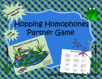 Hopping Homophones Partner Game (Common Core Aligned)