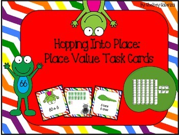 Hopping Into Place: Place Value Task Cards- Frog Edition