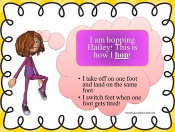 Hopping Skill Cue Card