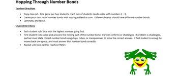 Hopping Through Number Bonds
