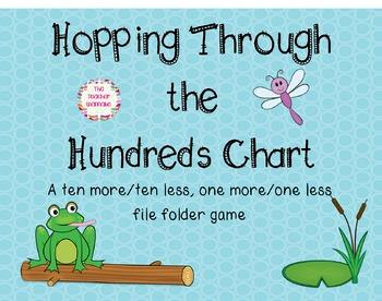 Hopping Through the Hundreds Chart File Folder Game (Ten More/Ten Less)