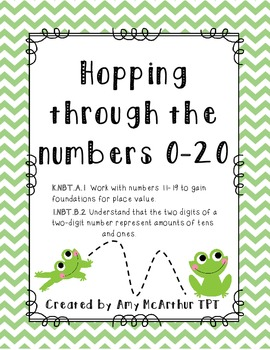 Hopping Through the Numbers ~ Exploring Place Value ~ K.NBT.A.1 1.NBT.B.2