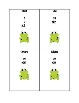 Hopping for Addition-Math Task Cards