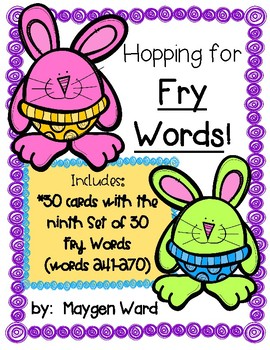 Hopping for Fry Words!