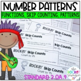 Number Patterns Worksheets for 3.OA.9 including skip counting and functions