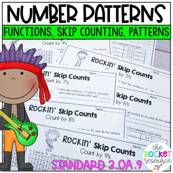 Number Patterns:  Practice Pages and Task Cards to support