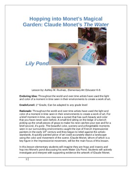 Hopping into Monet's Magical Garden: Claude Monet's The Water Lily Pond