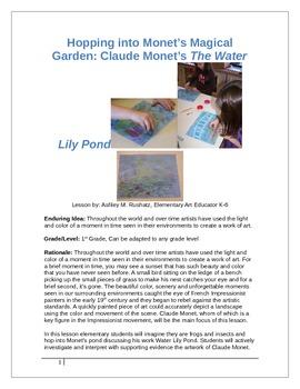 Hopping into Monet's Magical Garden: Claude Monet's The Wa