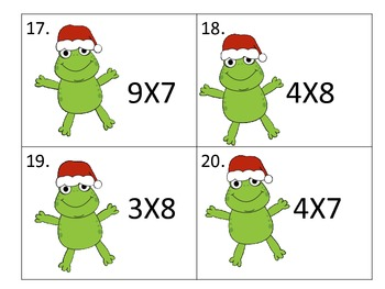 Multiplication Center with Christmas Frogs