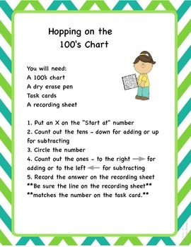 Hopping on the 100's Chart: moving by 1's and 10's