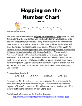 Hopping on the Number Chart: Level 10