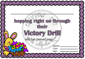 Hopping right on through their Victory Drill Certificate
