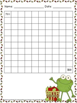 Hopping to 1,000: Common Core Number Writing Practice for Fall
