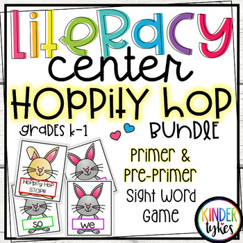 Hoppity Hop Sight Word Game Bundle (Pre-primer and Primer)