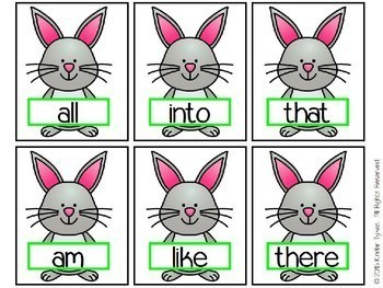 Hoppity Hop Sight Word Game for First Grade (Primer)
