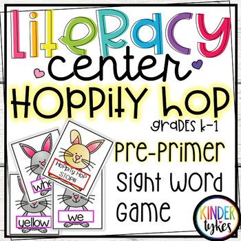 Hoppity Hop Sight Word Game for Kindergarten (Pre-primer)