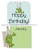 Hoppy Birthday!  Mini Bulletin Board Set