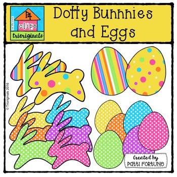 Hoppy Bunnies and Eggs {P4 Clips Trioriginals Digital Clip Art}