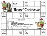 """Hoppy"" Christmas Game--Syllables"