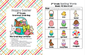 Hoppy Easter 2nd Grade Grammar Grab Bag #31