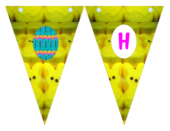 Hoppy Easter Banner, Cupcake Wrapper and Topper