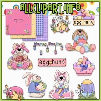 Hoppy Easter Clip Art - Alice Smith Clip Art