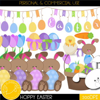 Hoppy Easter Clip Art Set