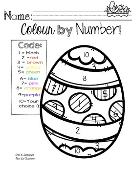 """Hoppy Easter"": Colour by Number Edition"