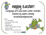 Hoppy Easter Language Arts and Math Center Activities