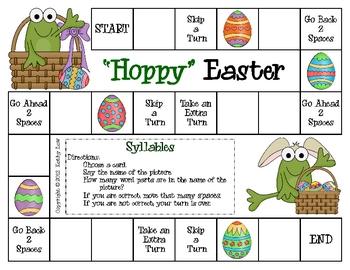 """Hoppy"" Easter--Syllables Game"