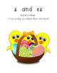 Hoppy Endings Easter themed ending sorting game: ed, ing, es, s