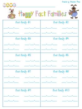 Hoppy Fact Families