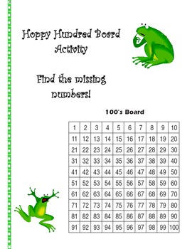Hoppy Hundred Board Activity