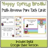 Hoppy Spring Break! Math Review Task Cards