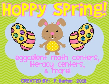 Hoppy Spring! {Eggcellent Math Centers, Literacy Centers, & More}