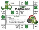 """Hoppy"" St. Patrick's Day--Syllables Game"