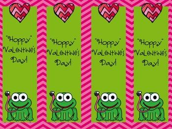 Hoppy Valentine's Day Bookmarks