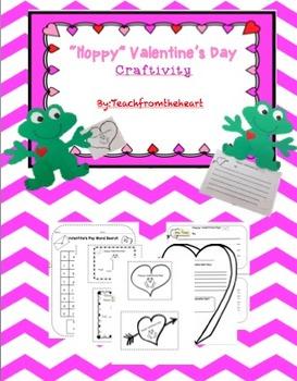 Hoppy Valentine's Day (A Valentine's Day Craftivity)