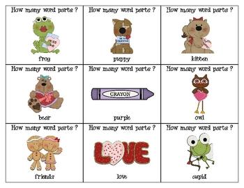 """Hoppy"" Valentine's Day--Syllables Game"