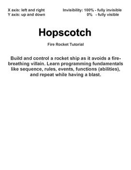 Hopscotch: Fire Rocket Tutorial