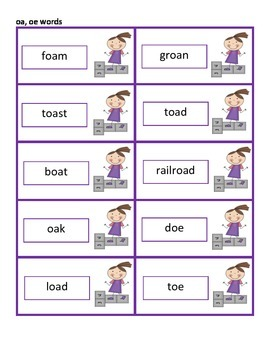 Hopscotch Reading!  A Review Activity for Reading Vowel Team Words