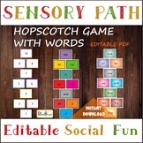 Editable Hopscotch game with WORDS & NUMBERS, Floor Sensor